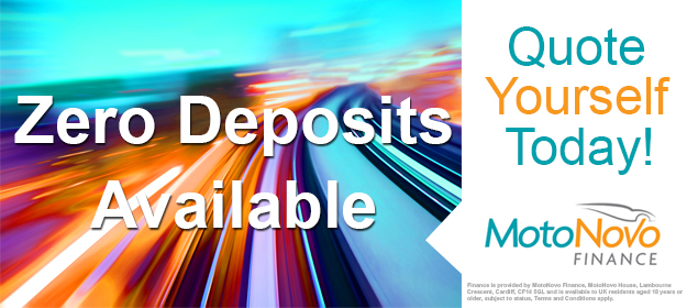 Zero Deposits with MotoNovo Finance